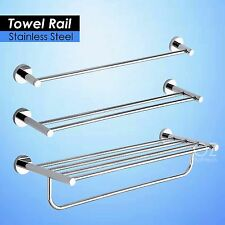 700mm Round Towel Rack Rails Bar Bathroom Shelf Holder Stainless Steel Chrome