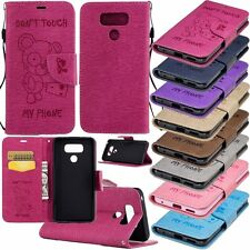 New Flip Leather Wallet Card Slots With Strap Stand Phone Case Cover For LG G6