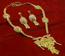 Indian Ethnic Traditional Goldplated Necklace Set Indian Women Wedding Jewelry