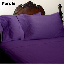 US FULL SIZE -PURPLE STRIPE 1000TC 100%EGYPTIAN COTTON US SHEET SET