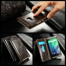 Luxury Magnetic Leather Flip Card Wallet Stand Case Cover Skin For HTC ONE M9