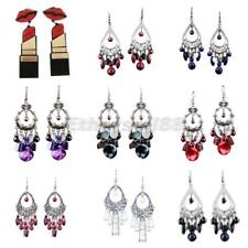 1Pair Fashion Women Boho Beads Tassel Drop Hook Dangle Earrings Ear Stud Jewelry