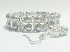 Silver Bracelet Set for Wedding, Bridesmaid, Bridal, Mother of Bride Gift