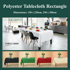 Rectangular Polyester Tablecloth Table Cover Cloth Economy Home Décor