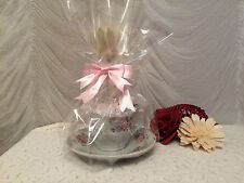TEACUP AND SAUCER PIN CUSHION GIFT SET - VARIOUS DESIGNS AND SIZES
