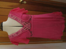 NEXT HOT FUSCHIA PINK EMBROIDERED BEADED V NECK SHORT SLEEVED TRIBAL TOP 8 10