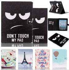 For Cover Apple iPad 2 iPad 3 iPad 4 Smart PU Leather Tablet Case Stand Flip Cut