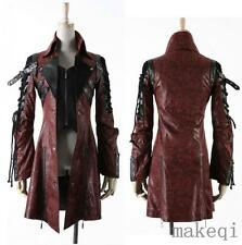 2017 Goth Leather Rock studded Jacket Coat Streampunk Outerwear Spring Punk New