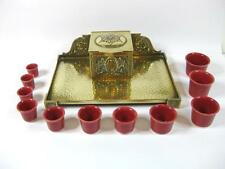 Rare RUBY RED ceramic Inkwell insert Porcelain ink pot, inkwell liner 11 sizes,