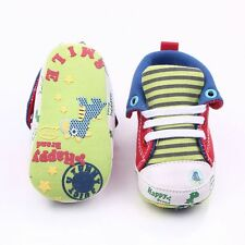Anti-Slip Soles Baby High Shoes Cartoon Printed Soft for Newborn 0-18 Months