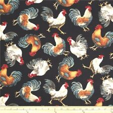 Quilted Toaster Cover Black Rooster Made to Order SEND YOUR MEASUREMENTS!!