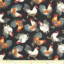 Quilted 2 or 4 Slice Toaster Cover Coffee Maker Black Rooster Made to Order