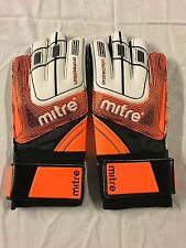Mitre Anza G2 Protector Goalkeeper Gloves - White/Orange