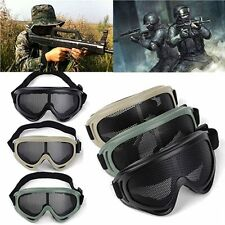 Tactical Shooting Airsoft CS Game Eyes Protection Metal Mesh Goggle Mask Glasses