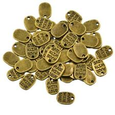 50pcs Tibet Silver Made With Love Jewelry Accessories Charms Pendants Heart Bead