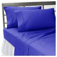 UK ALL SIZE 1000TC EGYPTIAN COTTON BEDDING SETS- ROYAL BLUE SOLID