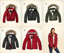 NWT Hollister-Abercrombie Women's All-Weather Sherpa Lined Parka Jacket Bomber