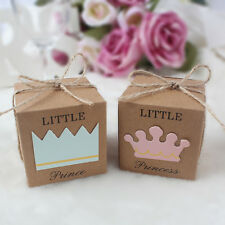 20X Baby Shower Favor Box Little Prince or Princess Birthday Party Bombonie Gift