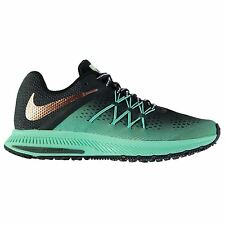 Nike Zoom Winflo 3 Shield Running Shoes Womens Green/Black Trainers Sneakers