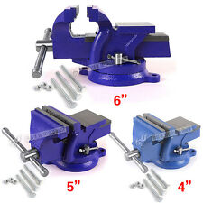 """4"""" 5"""" 6"""" WORK BENCH VICE VISE WORKSHOP CLAMP ENGINEER JAW SWIVEL BASE HEAVY DUTY"""