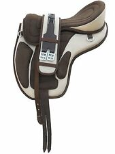 All Purpose Freemax Synthetic Treeless Saddle cream/brown + Matching Girth