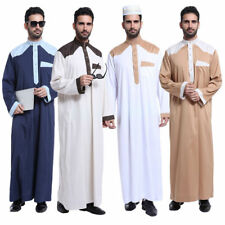 Islamic Men Abaya Kaftan Muslim Men's Dishdasha Thobe Thobe Robe Daffah Clothes