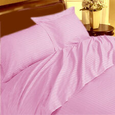 THREAD TREASUREs SOFT PINK STRIPE BEDDING COLLECTION 1000TC 100% COTTON - PK02