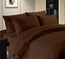 THREAD TREASURE's CHOCOLATE SOLID BEDDING COLLECTION 1000TC 100% COTTON -6
