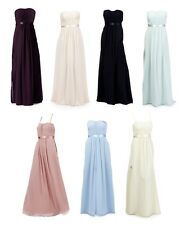 Debut 'Sophia' Ruched Maxi Evening Dress Bridesmaid Prom Various Colours Sizes