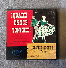 45 RPM RECORD ALBUM -SQUARE DANCE TONIGHT! -CLIFFIE STONE'S BAND -3 Records