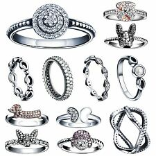 Genuine Fashion Sapphire 925 Silver Woman Fine Rings Wedding Jewelry US Size 5-9