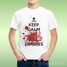 T-Shirt Baby Boy Keep Calm And Kill Zombies The Walking Dead Gift Idea