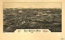 Photo Reprint Antique American Cities Towns States Map East Douglas Mass