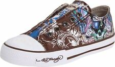 Ed Hardy  Kids Authentic Lowrise 100 Fashion Slip on Sneaker Shoes Chocolate New