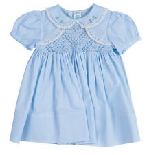 Feltman Brothers Dress Baby Blue Smocked Bolero Dress with Lace Trim NWT Easter