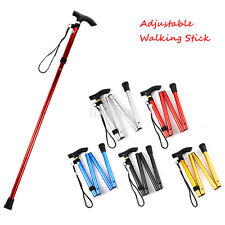Adjustable Aluminum Metal Cane Walking Stick Folding Column Collapsible Travel L