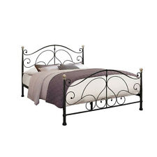 Milano Bed Frame - Small Double 4ft - Strong Wood, Headboard