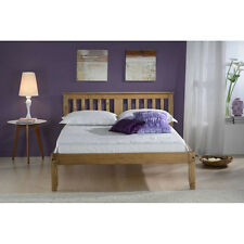Salvador Bed Frame - Double 4ft6 - Wooden with Headboard - White, Pine