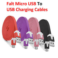 2M Flat Micro USB Data Sync Charger Cable for Samsung Galaxy S7 HTC ONE M9 Nokia