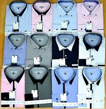 Mens Fashion Shirts contrast collar detail, Various Styles,  Wedding Party Smart