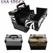 Pro ABS Aluminum Makeup Train Jewelry Storage Box Cosmetic Case W/ Drawer Trays