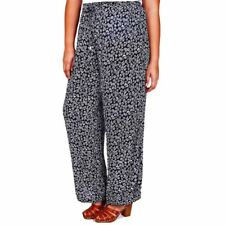 Plus Size Womens Summer Trousers Yours Navy White Wide Leg Palazzo 18 - 28