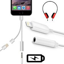 HQ 2 in 1 Apple Lightning to 3.5mm Aux Audio+ Charging Adapter For iPhone 7 Plus