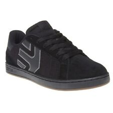 New Mens Etnies Black Fader Suede Trainers Skate Lace Up