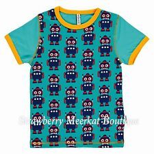 New SS17 Maxomorra Robot Front Short Sleeved T-Shirt 122-128 Age 7-8 *LAST ONE*