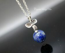 Lapis Lazuli Necklace Sterling Silver Blue Lapis Necklace Chakra Crystal Healing