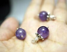 Tiny Amethyst Pendant - Genuine Amethyst Jewelry - Simple Amethyst Necklace - Br