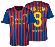 NIKE ANDRES INIESTA FC BARCELONA HOME JERSEY 2011/12.