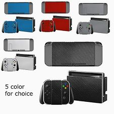 Carbon Fiber 3M Sticker Decal Skin Cover Full Wrap Protector for Nintendo Switch
