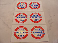GT BMX Nora Cup Decals Stickers Old School BMX Seat Tube Number Plate